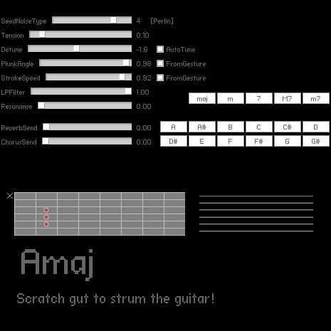 SiON Physical Modeling Guitar Synthesizer by keim_at_Si