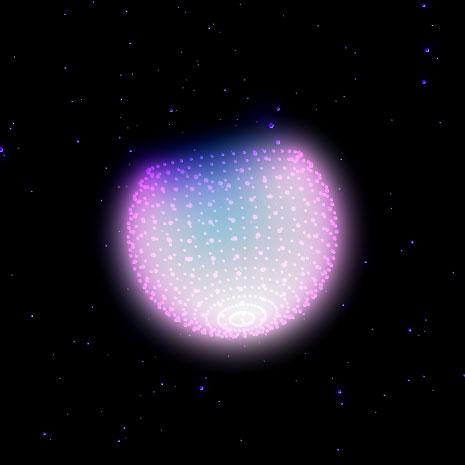 宇宙 ParticlesSphere by dubfrog