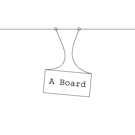 Swinging board