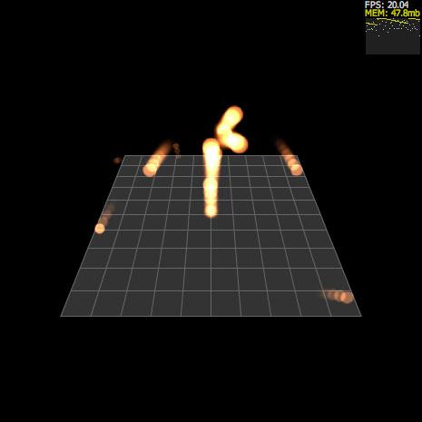 Alternativa3D ファイアーボール Sprite3Dのネストによる軌道表現 連射Ver by narutohyper