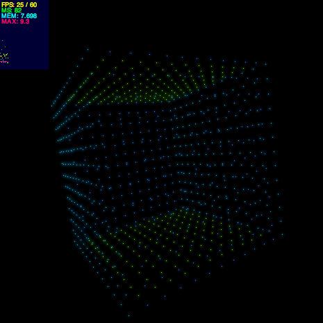 【Pixel3D練習】整列したりランダムしたり