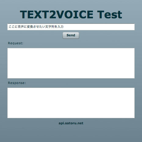 TEXT2VOICE Test by keiso