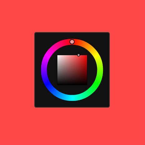 色相環カラーピッカー(HSV色空間)