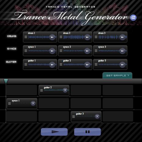 Trance Metal Generator(トランスメタルジェネレータ) by romatica