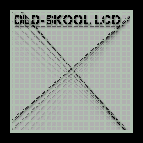 Thumbnail : Old-skool LCD rendering