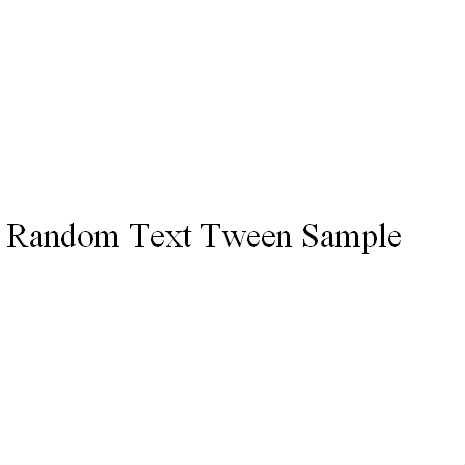[BetweenAS3] Random Text Tween
