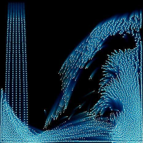 流体シミュレーション/Particle Fluid by saharan