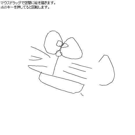 空間に絵を描く by miniapp