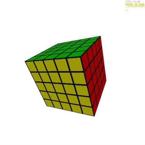 Alternativa3Dでルービックキューブ 5x5 by narutohyper